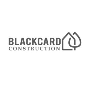 Black Card construction company marketing kelownaConstruction Logo